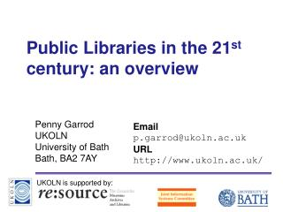 Open Libraries in the 21st century: a diagram