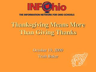 Thanksgiving Means More Than Giving Thanks