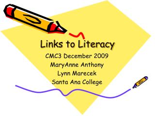 Connections to Literacy
