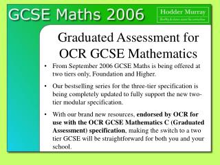 Graduated Assessment for OCR GCSE Mathematics