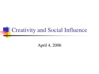 Imagination and Social Influence