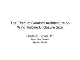 The Effect of Gearbox Architecture on Wind Turbine Enclosure Size