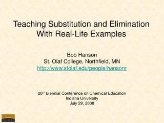 Showing Substitution and Elimination With Real-Life Examples