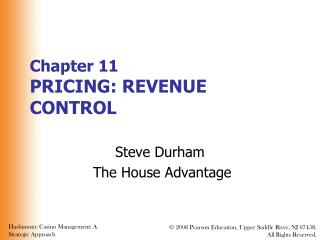 Part 11 PRICING: REVENUE CONTROL