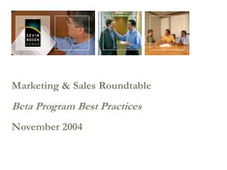 Promoting Sales Roundtable Beta Program Best Practices