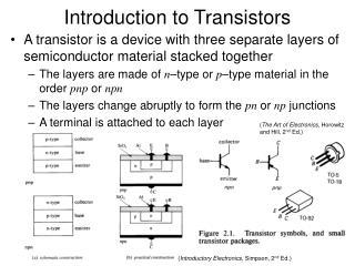 Prologue to Transistors