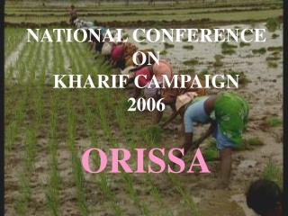 NATIONAL CONFERENCE ON KHARIF CAMPAIGN 2006