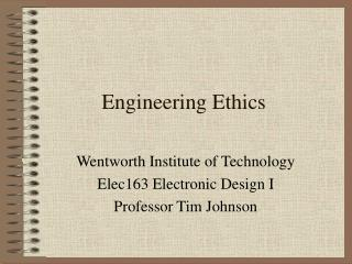 Building Ethics