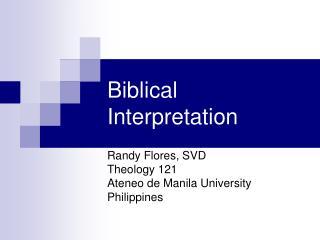 Scriptural Interpretation