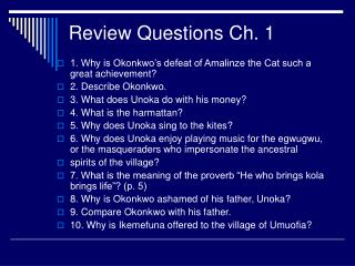 Audit Questions Ch. 1