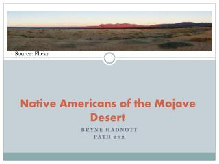 Local Americans of the Mojave Desert