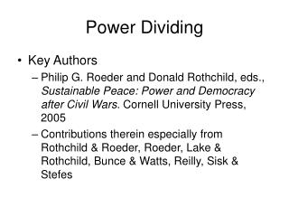 Force Dividing