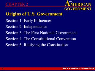 Starting points of U.S. Government
