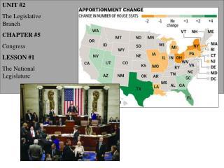 UNIT 2 The Legislative Branch CHAPTER 5 Congress LESSON 1 The National Legislature