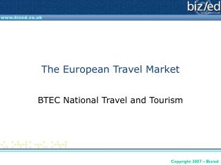 The European Travel Market
