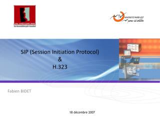 Taste Session Initiation Protocol H.323