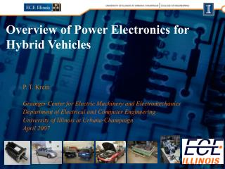 Outline of Power Electronics for Hybrid Vehicles