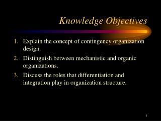 Information Objectives