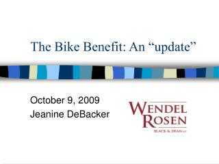 The Bike Benefit: A redesign