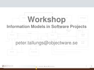 Workshop Information Models in Software Projects peter.tallungsobjectware.se