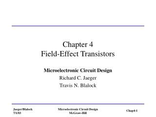 Part 4 Field-Effect Transistors