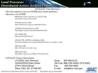LP DAAC User Services