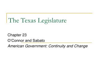 The Texas Legislature