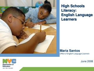 English Language Learners: demographics