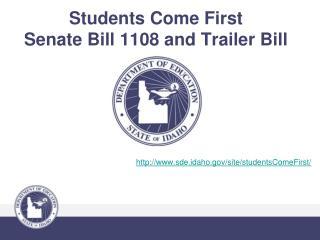 Understudies Come First Senate Bill 1108 and Trailer Bill