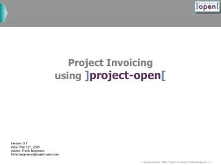 Task Invoicing utilizing ]project-open[