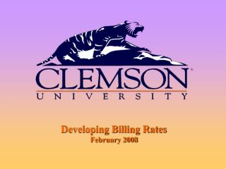 Creating Billing Rates February 2008