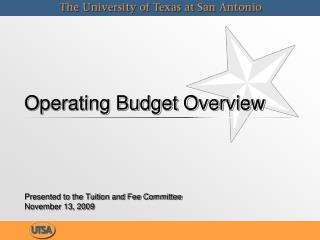 Working Budget Overview