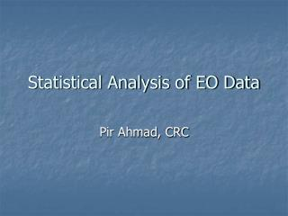 Factual Analysis of EO Data