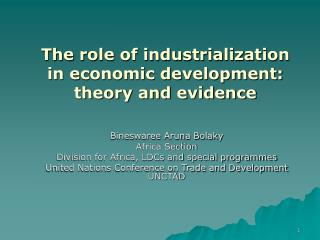 The part of industrialization in financial improvement: hypothesis and confirmation