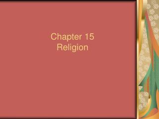 Part 15 Religion