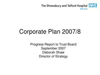 Corporate Plan 2007