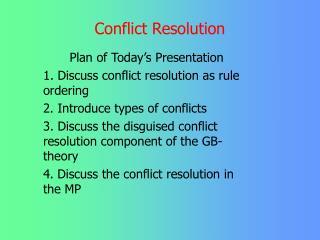 Struggle Resolution