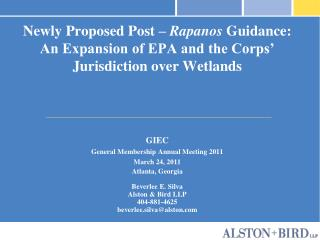 Recently Proposed Post Rapanos Guidance: An Expansion of EPA and the Corps Jurisdiction over Wetlands