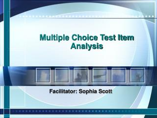 Numerous Choice Test Item Analysis