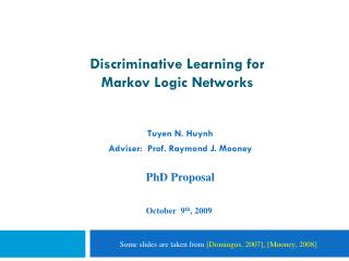 Discriminative Learning for Markov Logic Networks