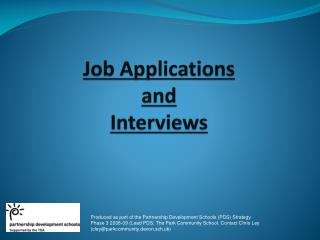 Work Applications and Interviews