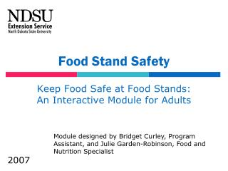 Nourishment Stand Safety