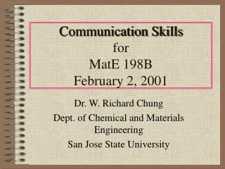 Relational abilities for MatE 198B February 2, 2001