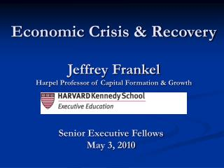Jeffrey Frankel Harpel Professor of Capital Formation Growth