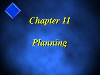 Part 11 Planning