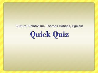 Fast Quiz