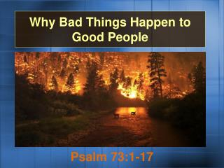 Why Bad Things Happen to Good People