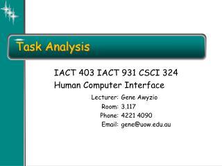 Undertaking Analysis