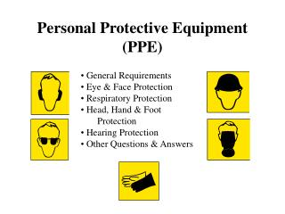 Individual Protective Equipment PPE