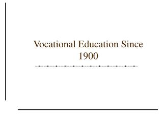 Professional Education Since 1900